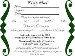 free pledge card template 2 best templates ideas