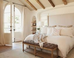 traditional bedroom ideas with color. Vintage Wall Color And Wooden Vaulted Beam Ceiling For Traditional White Bedroom Ideas With I