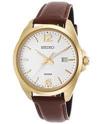 seiko mens leather strap watch sur216p1 rrp £159 99 seiko mens leather strap watch sur216p1