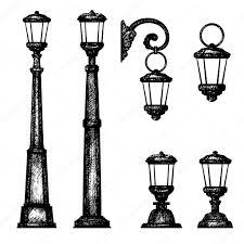 Drawing Street Light How To Draw A Street Light Sketch Of Street Light Vector