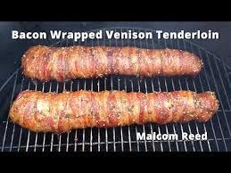 bacon wrapped deer backstrap tenderloin