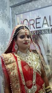 bridal makeup shahnaz hussain beauty clinic and loreal professionals photos sheikhpura