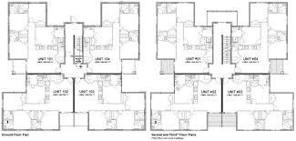 Multi Family Home And Building Plans  Suite Style Graduate 12 Unit Apartment Building Plans