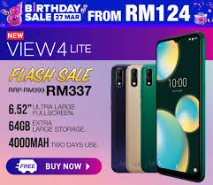 New Wiko View4 Lite on Lazada for MYR337