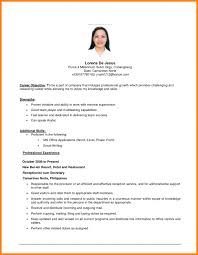 Dental Receptionist Resume Objective Resume Objective Examples For Receptionist Gym Beautiful Design Id 89