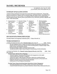 Finance Resume Format Pelosleclaire Com