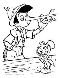 Pinocchio Color Page Disney Coloring Pages Color Plate Coloring