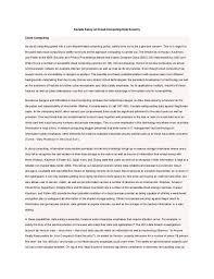 sample essay on cloud computing sample essay on cloud computing data security cloud computing as cloud computing grows into a