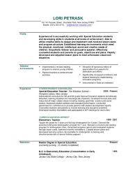 Gallery Of Elementary School Teacher Resume Samples Free Resume