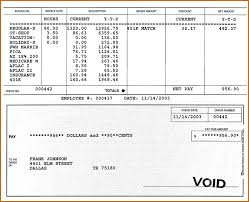 Direct Deposit Pay Stub Template 7 Pay Stub Template Pdf