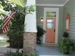Coral Front Door My New Exterior Loving My Paint Color Winters Day Behr
