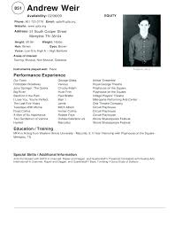 Example College Resumes Beauteous Dance Resume Template Free Haydenmediaco