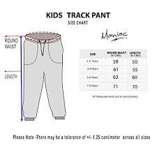 Kids Pants Size Chart Maniac Boys Cotton Track Pant