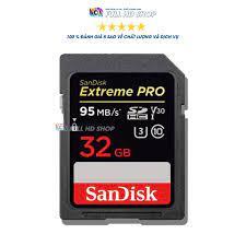 Thẻ nhớ SD Sandisk 32Gb - Tốc độ 95 Mb/s - Dùng cho máy ảnh , máy quay -  FullHDShop giá cạnh tranh