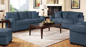 Navy blue furniture living room Midnight Blue Cindy Crawford Living Room Set Cindy Crawford Living Room Set With Navy Blue Sofa Loveseat And Chair Furniturecom Navy Blue Gray White Living Room Furniture Decor Ideas