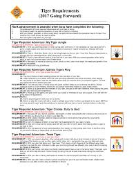 Tiger Advancement Chart Cubrequirements2017 Tiger Pages 1 4 Text Version Anyflip
