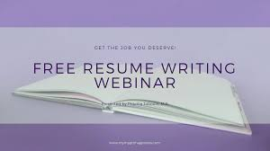 Free Resume Writing Webinar Priscilla Jabouin M A