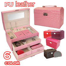 new 6 color luxury princess cosmetic case gift big capacity makeup box make up