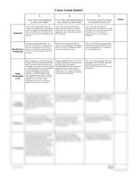 Cover Letter Rubric Xlsx Family And Consumer Sciences 300 With