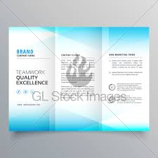 Mini Brochure Design Modern Business Trifold Brochure Design In Minimal Style Gl Stock