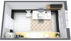 office setup ideas design. Design Home Office Layout 3d Floor Plan And Furniture  Setup Ideas