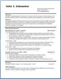 Free Job Resume Template Fascinating Free Job Resume Template Swarnimabharathorg
