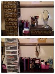 DIY Makeup storage. Decorate Sterilite Mini 3 drawer storage by painting  with Kryolan Fusion for