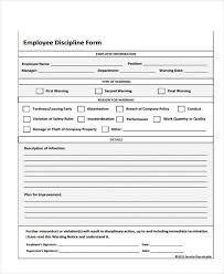 Employee Write Up Form Free Printable Employee Handbook