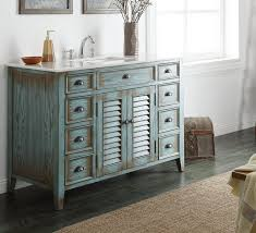 winsome rustic bathroom vanity ideas with light blue paint distressed wood cabinet and classy white gloss marble top single sink using chrome arch faucet bathroom winsome rustic master bedroom designs
