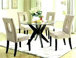 dining tables circle glass dining table round with chairs and 4 set d