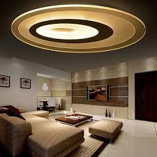 Bedroom Ceiling Lights Fuloc Ceiling Lights Oval Personality Indoor Lighting Ceiling Lamp Fixture For Living Room Bedroom Round Corridor Lamp