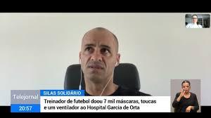Silas em campanha para entregar material ao hospital de Almada