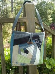 Elegant Gray Canvas Gray Denim Toffee Leather Tan Straps Tote Bag ... & Denim Green Khaki White Blue Sage Handmade Quilted Patchwork DayBag BookBag Handbag  Made in USA Adamdwight.com