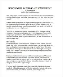 Why This College Essay Example    Cover Letter College Application