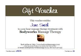 Customized Gift Certificates Buy Personalised Gift Vouchers Online For Massage Therapy In