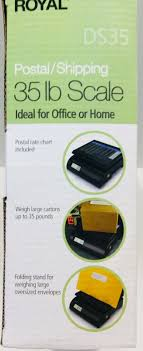 Royal Ds35 Electronic Postal Freight Portable Home 35 Lb Weigh Scale Hold Button