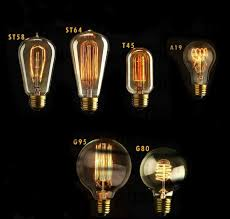 40 watt incandescent g80 globe vintage edison light bulb spiral filament e26 um base