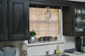 A Burlap Roman Shade For My Kitchen WindowBurlap Window Blinds