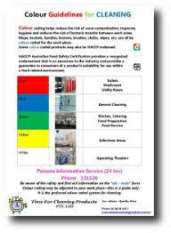 Bics Colour Coding Chart Colour Code Cleaning Chart Time For Cleaning Products