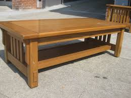 Craftsman Style Coffee Table Mission Shaker Craftsman Style Oak Coffee Table By