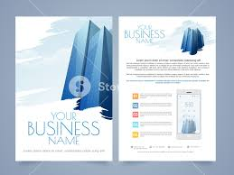 Two Page Brochure Template Professional Two Page Flyer Template Or Brochure Design For Real