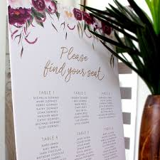 Seating Chart Wedding Seating Chart On Board