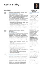 Marketing Communications Manager Web Resume samples