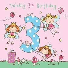 Image result for 3 three year birthday