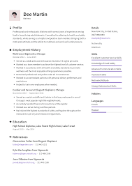 Server Experience Resume Examples Waitress Resume Templates 2019 Free Download Resume Io