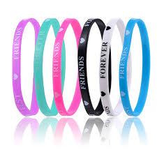 Suki Lovely Heart Best Friend Printed Silicone Bracelet Bangle Wristband Sport Jewelry For Women Men Children Gift Rajasthani Bangles Bangle Size