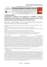 pdf determination of cetirizine dihydrochloride impurities and preservatives in solution and tablet dosage forms using hplc
