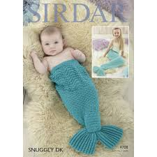 Mermaid Tail Blanket Knitting Pattern Stunning Sirdar Snuggly Dk Mermaid Tail Pattern 48 Hobbycraft