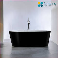 freestanding bath tub. harper-black-freestanding-1500-b4014b-front freestanding bath tub