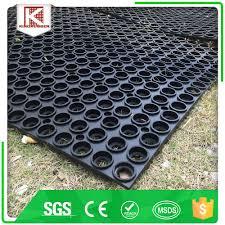 marine flooring loading dock green rubber custom anti slip rubber mat